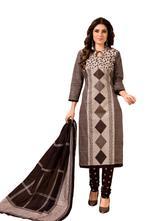 Cotton Self Design Salwar Suit Material  (Unstitched)
