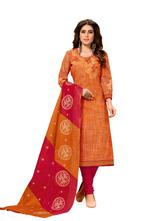 Cotton Self Design Salwar Suit Material  (Unstitched)