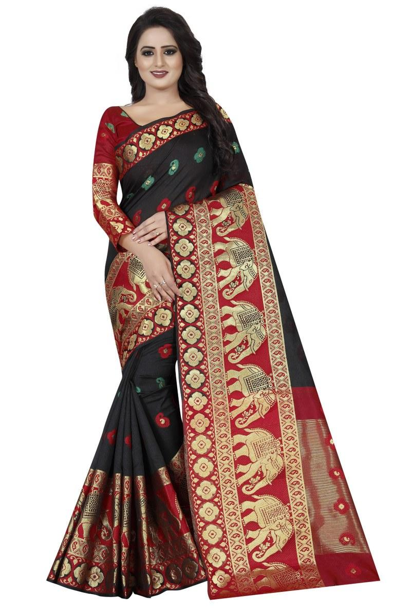 Paisley Fashion Poly Silk Saree