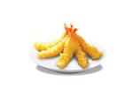 Breaded Tail on shrimps