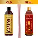 Newish : Castor Oil for Hair Growth | 100% Pure & Organic | For Dry Skin Nail Care Eyelashes (200ml pack of 3)