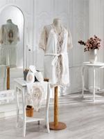 Floranza Embroidered 3-Piece Bath Set - Ivory