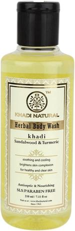 Khadi Natural Sandal & Turmeric Body Wash - 210 ml