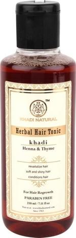 Khadi Natural Henna Thyme Hair Tonic - 210 ml