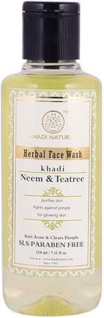 Khadi Natural Neem & Tea Tree Face Wash - 210 ml