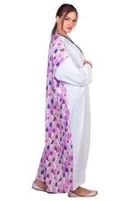 Miella Pink & White Printed Masr Long Shrug (AB023-PNK)