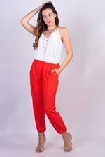 Miella Coral Orange Elasticated Crepe Joggers (PN009-CRL)