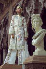 Saadia Mirza La Dentelle Ivoir Unstitched Dress Material