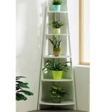 Glampsy 5 Tier Wooden White Plant Stand- 85 cm