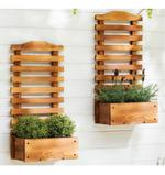 Barris Wall Hanging Wooden Plant Stand- 60 cm