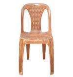Nilkamal Durable Armless Chair- Brown
