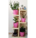 Ecopot Wooden Plant Stand  5 Tier