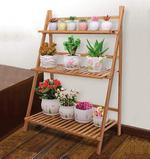 Ecopot 3 Tier Folding Wooden Plant Stand