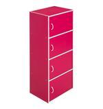Delma 4 Door Storage Cabinet- Magenta