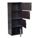 Barnet 4 Door Storage Cabinet With Lock- Chocolate