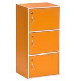 Priciado 3 Door Storage Cabinet With Lock- Orange