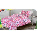 Home Style Floral Bloom 3 Pcs Single Kids Comforter Set