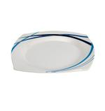 """Moments Style Square Ocean Blue Rim Plate- 8"""""""