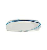 """Moments Style Square Ocean Blue Soup Plate- 9"""""""