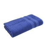 Double Border True Navy Bath Towel- 70x140 cm