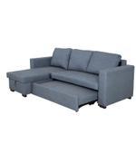Cannes L Shape Corner Sofa- Grey