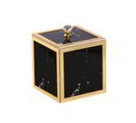 Decorative Utility Box With Lid- 10 x 10 cm