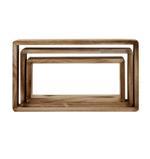 Denver Rectangular Wall Shelf- Brown