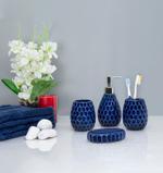 Ciara 4Pcs Ceramic Bathroom Set- Royal Blue