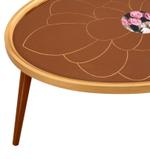 Melike Coffee Table With 4 Nesting End Tables
