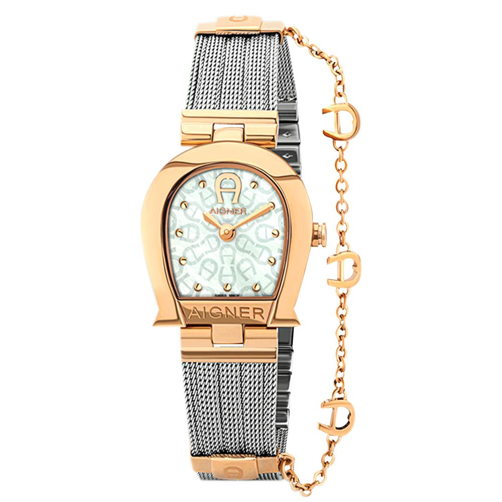 Aigner Cremona Silver And Rose Gold Women's Watch M A115203