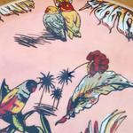 Brass Digital Bird Print Enameled Thaal Tray Set Of 2