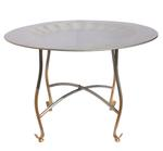 Traditional Silver Round Shape Coffee Table