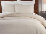 Ivory Quilted Double Bed Cover With Two Pillow Case