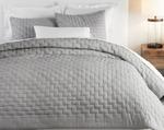 Hue Of Olive Green Quilted Double Bed Sheet With Two Pillow Case