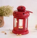 Red Hanging Tealight Lantern