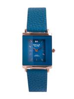 Omax CECT Ladies Leather Stainless steel Blue 29 mm Watch For Women