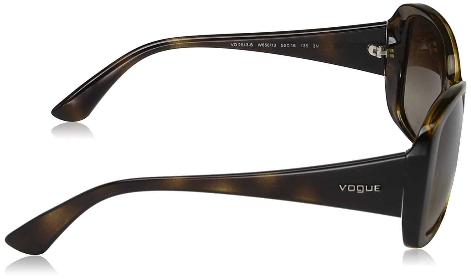 VOGUE 0VO2843S FEMALE W65613 DARK HAVANA