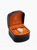 Louis Cardin Stainless Steel Quartz Rose White Butterfly Buckle Watch For Men 1800G