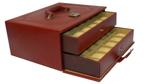Laveri Watch Box for Men Women (36 Slots), Premium Leather Watch Case Organizer with Crystal Glass Top, Removable Pillow