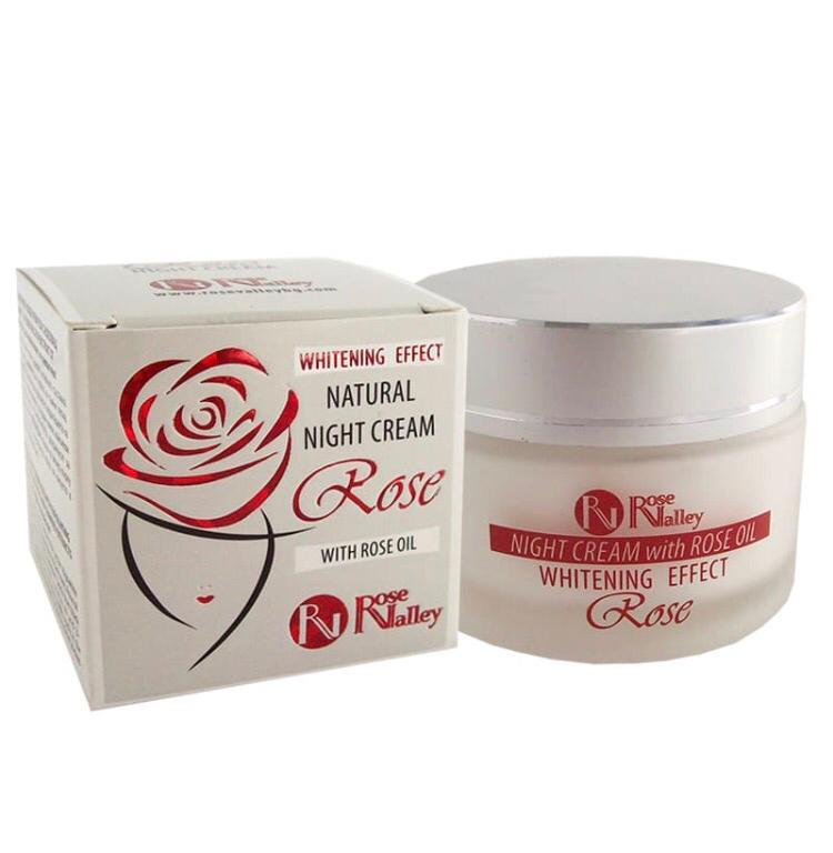 Bulgarian Rose Natural Night Cream with Natural Whitening Effect 40ML