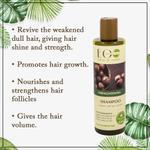 EO Laboratorie Organic strengthening shampoo, macadamia oil, promotes hair growth, volume, & anti hair loss