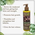 EO Laboratorie Organic strengthening balm & conditioner restore volume promotes hair growth & anti hair loss with macadamia oil & witch hazel extract silicone, parabens & sulfate free