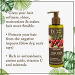 EO Laboratorie Organic Argan oil restoring hair balm & conditioner for damaged & colored hair silicone, parabens & sulfate free