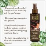EO Laboratorie Organic styling and hair restoring, heat protective, & anti frizz spray with macadamia oil silicone, parabens & sulfate free