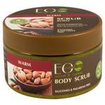 EO Laboratorie Organic sugar body scrub warm, Exfoliating & toning, with guarana extract & almond oil