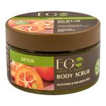 EO Laboratorie Organic sugar body scrub detox, exfoliating, antiaging & renwing, with kumquat extract