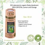 EO Laboratorie Organic Deodorants deo crystal lemon and orange unscented aluminum-free