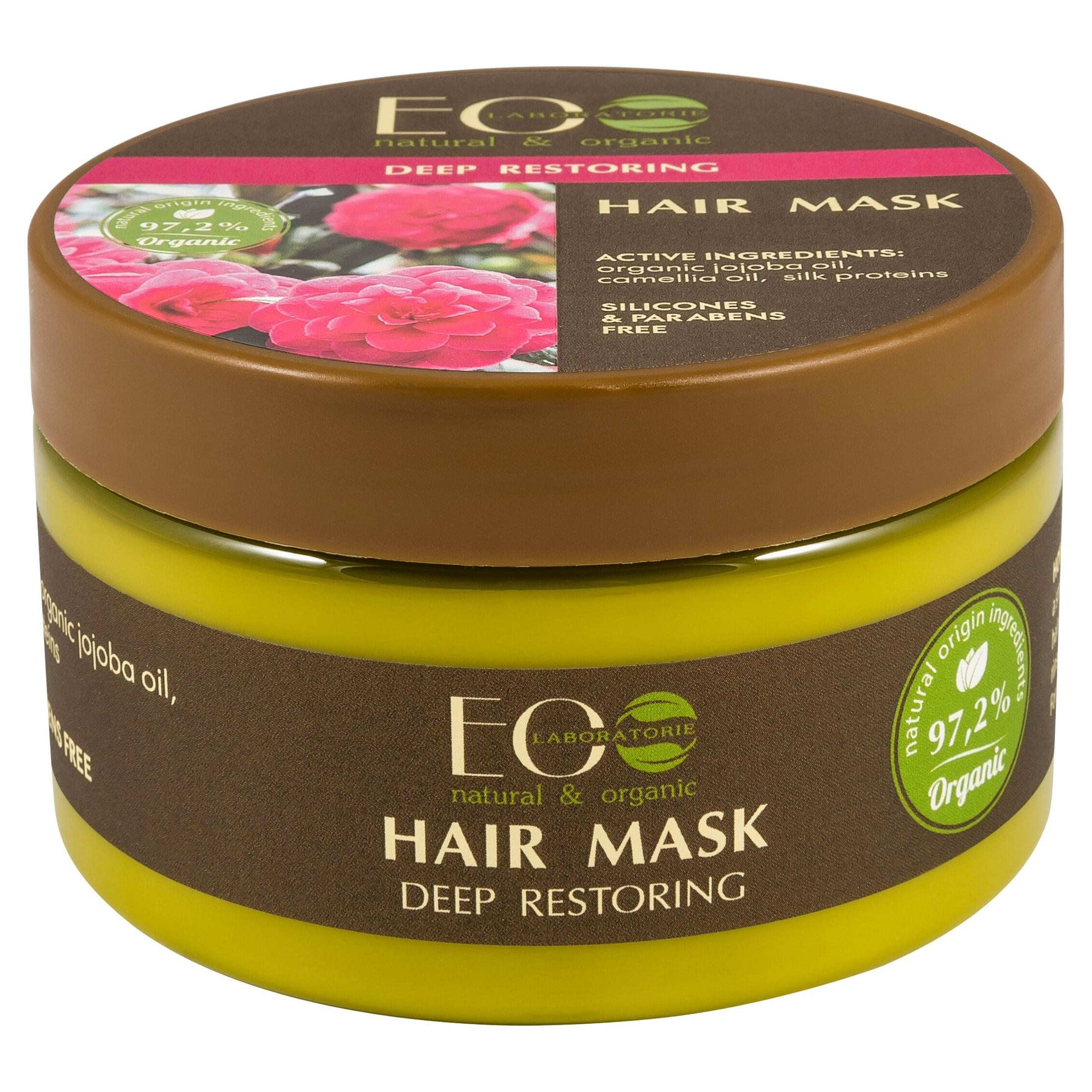 EO Laboratorie Organic hair mask deep restoring & repair with jojoba oil camilia oil & Sick proteins sulfate free , silicone & parabens free