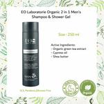 EO Laboratorie Organic Man�s shampoo & shower gel 2 in 1 long lasting frshness with cypress and green tea