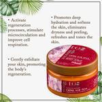 EO Laboratorie Organic Macadamia oil body scrub, Exfoliating with Raspberry seeds, nourishing, tenderness and radiance of skin